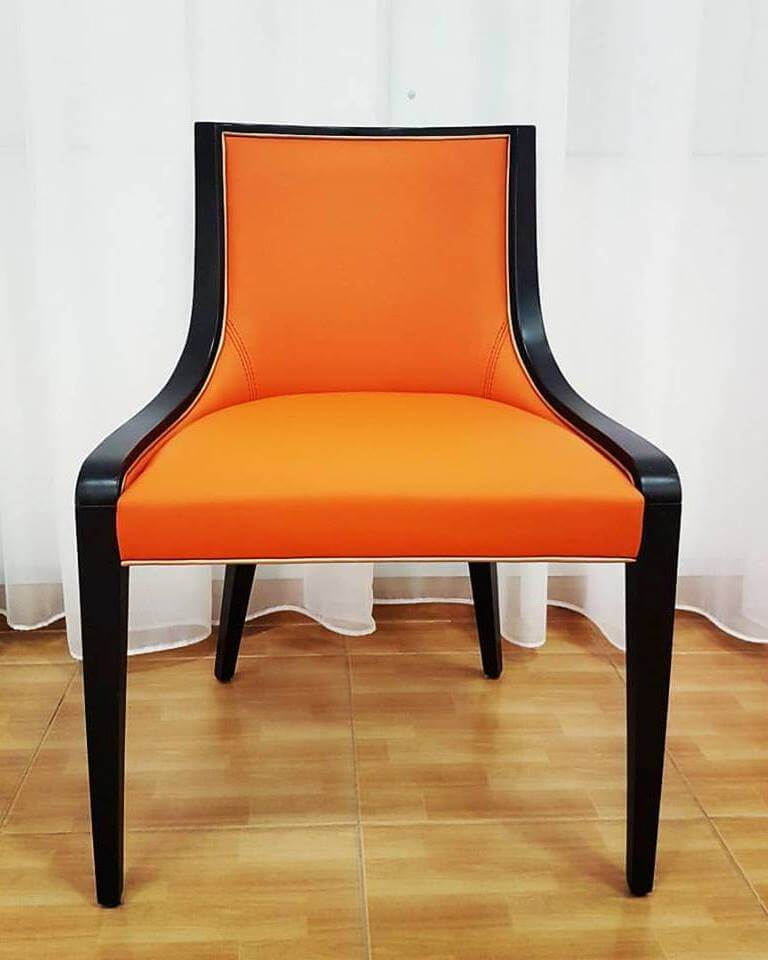 Custom Made Dark Orange Chair For A Vivid Setup