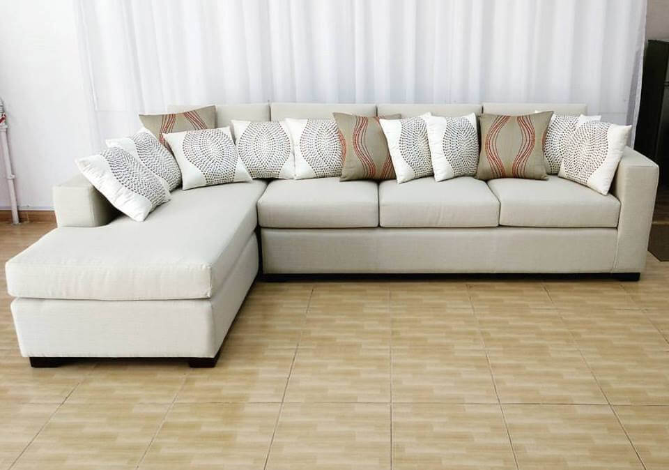 White L Shape Sofa Custom Made